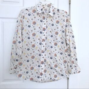 Liberty of London Mod Graphic Button Down Shirt S